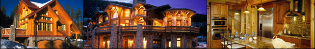 log home header images